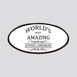 World's Most Amazing School Librarian Patches