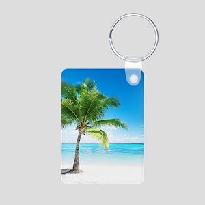 Beautiful Beach Aluminum Photo Keychain