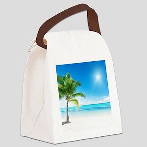 Beautiful Beach Canvas Lunch Bag