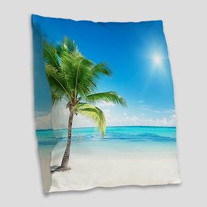 Beautiful Beach Burlap Throw Pillow