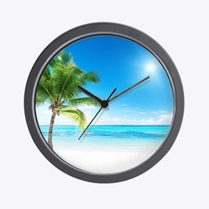 Beautiful Beach Wall Clock