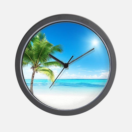 Beautiful Beach Wall Clock