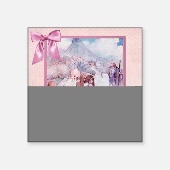 "River Cradle Nursery Design Square Sticker 3"" x 3"""