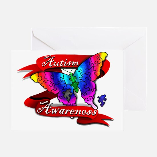 Autism Awareness Butterfly Design Greeting Card