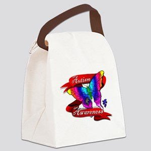 Autism Awareness Butterfly Design Canvas Lunch Bag