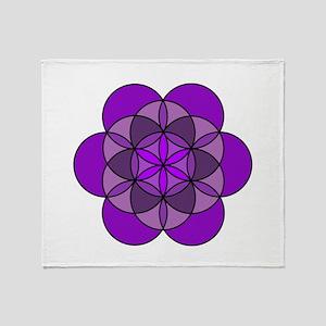 Crown Flower of Life Throw Blanket