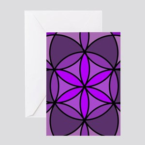 Crown Flower of Life Greeting Card