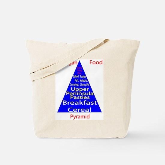 Michigan Food Pyramid Tote Bag