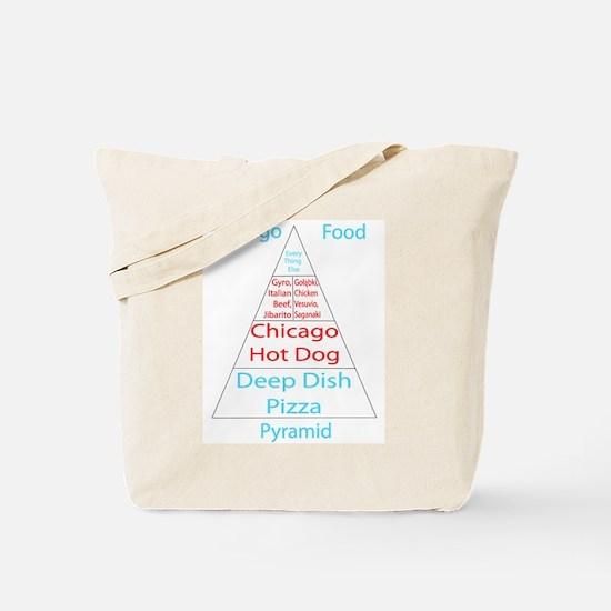 Chicago Food Pyramid Tote Bag