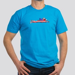 USA Swimmer Men's Fitted T-Shirt (dark)
