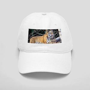 Tiger in the woods Cap