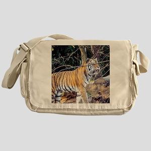Tiger in the woods Messenger Bag
