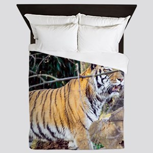 Tiger in the woods Queen Duvet