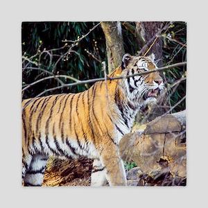 Tiger in the woods Queen Duvet