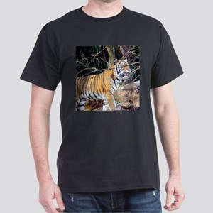 Tiger in the woods Dark T-Shirt