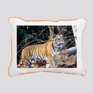 Tiger in the woods Rectangular Canvas Pillow