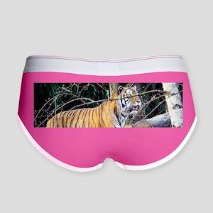 Tiger in the woods Women's Boy Brief