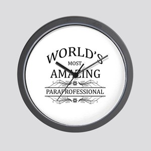 World's Most Amazing Paraprofessional Wall Clock