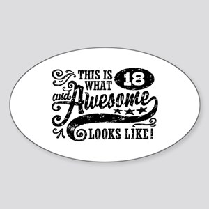 18th Birthday Sticker (Oval)