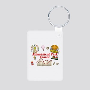 Amusement Park Fanatic Aluminum Photo Keychain