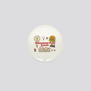 Amusement Park Fanatic Mini Button