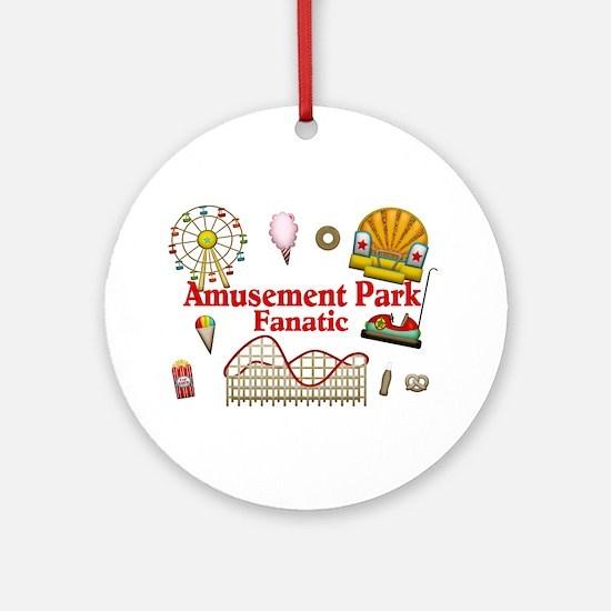 Amusement Park Fanatic Ornament (Round)