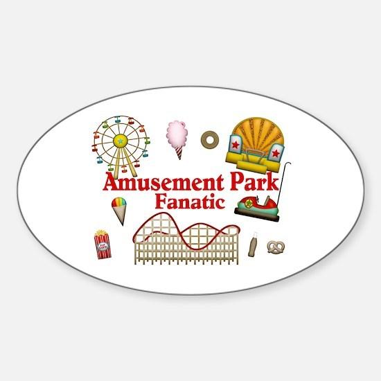 Amusement Park Fanatic Sticker (Oval)