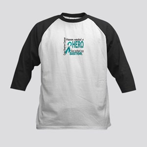 Ovarian Cancer Heaven Needed Kids Baseball Jersey
