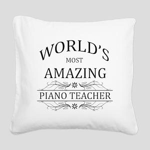 World's Most Amazing Piano Te Square Canvas Pillow