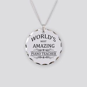 World's Most Amazing Piano T Necklace Circle Charm
