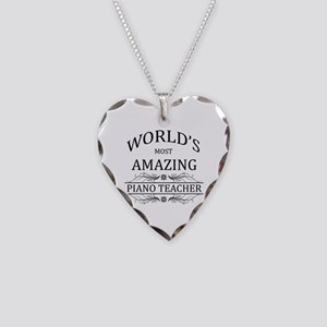 World's Most Amazing Piano Te Necklace Heart Charm