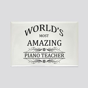 World's Most Amazing Piano Teache Rectangle Magnet