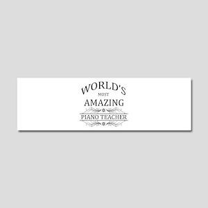 World's Most Amazing Piano Teach Car Magnet 10 x 3