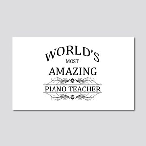 World's Most Amazing Piano Teac Car Magnet 20 x 12