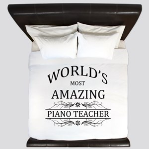 World's Most Amazing Piano Teacher King Duvet