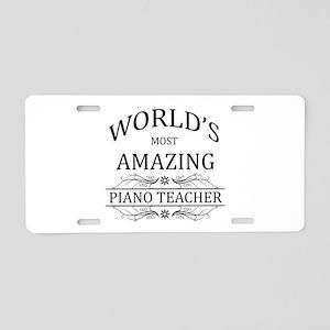 World's Most Amazing Piano Aluminum License Plate
