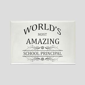 World's Most Amazing School Princ Rectangle Magnet