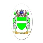 Francken 20x12 Oval Wall Decal
