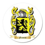 Francis Round Car Magnet