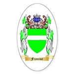 Francine Sticker (Oval 10 pk)