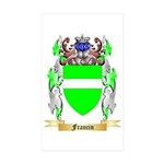 Francin Sticker (Rectangle 10 pk)