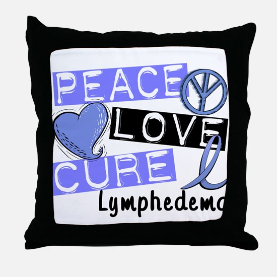 Lymphedema Peace Love Cure 1 Throw Pillow
