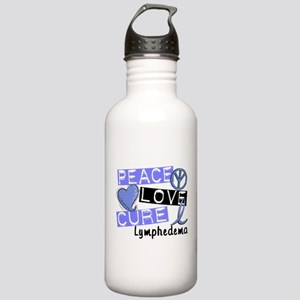 Lymphedema Peace Love Stainless Water Bottle 1.0L