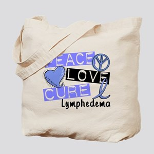 Lymphedema Peace Love Cure 1 Tote Bag