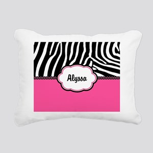 Zebra Print Pink Personalized Rectangular Canvas P