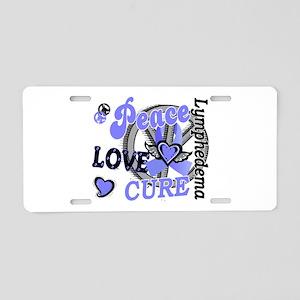 Lymphedema Peace Love Cure Aluminum License Plate