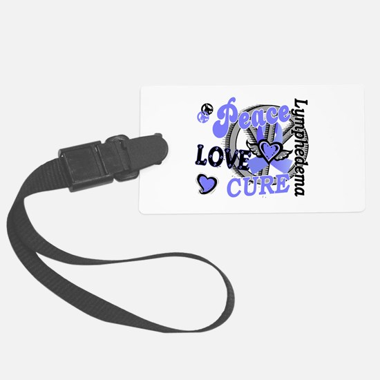 Lymphedema Peace Love Cure 2 Luggage Tag