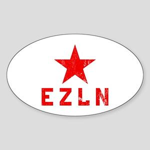 Ejército Zapatista de Liberación Oval Sticker