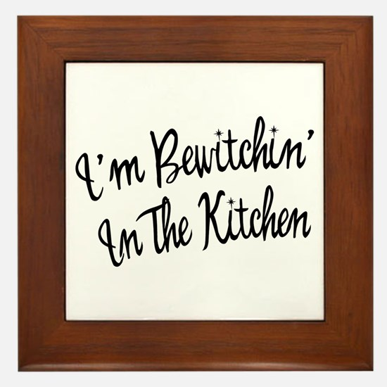 Bewitchin' In The Kitchen Framed Tile