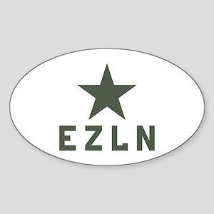 EZLN Zapatista Oval Sticker